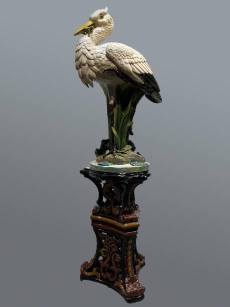 Faïencerie de Toul-Bellevue, Grand héron sur sa colonne