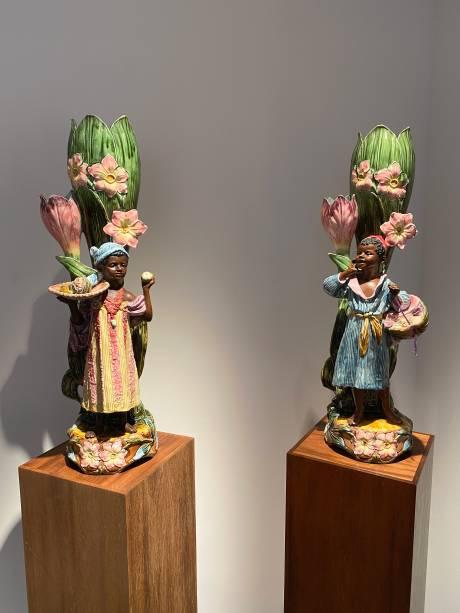 Artiste inconnu, paire de personnages enfantins d'inspiration orientaliste