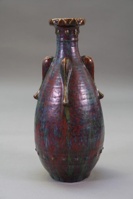 Pierre-Adrien Dalpayrat, Vase ovoïde sur talon.