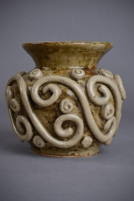 ANDRE ROZAY, Tracery ball vase