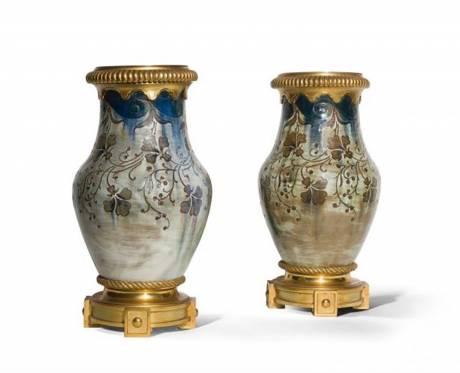 Auguste Delaherche, Paire de vase balustres