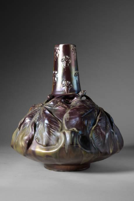Ernest Bussière, vase marronnier