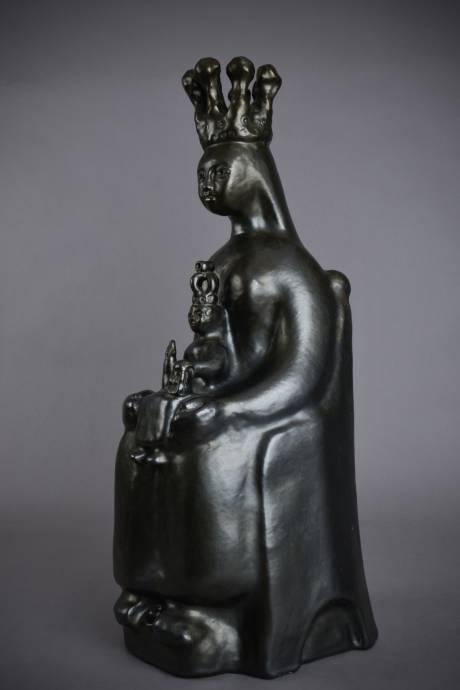 Galerie Origines - Arles - Georges Jouve - Ceramic sculpture - black enamel
