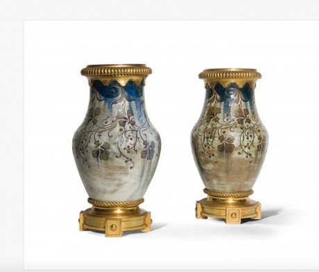 Auguste Delaherche, Pair of baluster vase