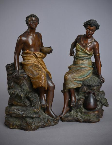 Galerie Origines - Arles - Bernhard Bloch (factory) - Pair of characters on a rock